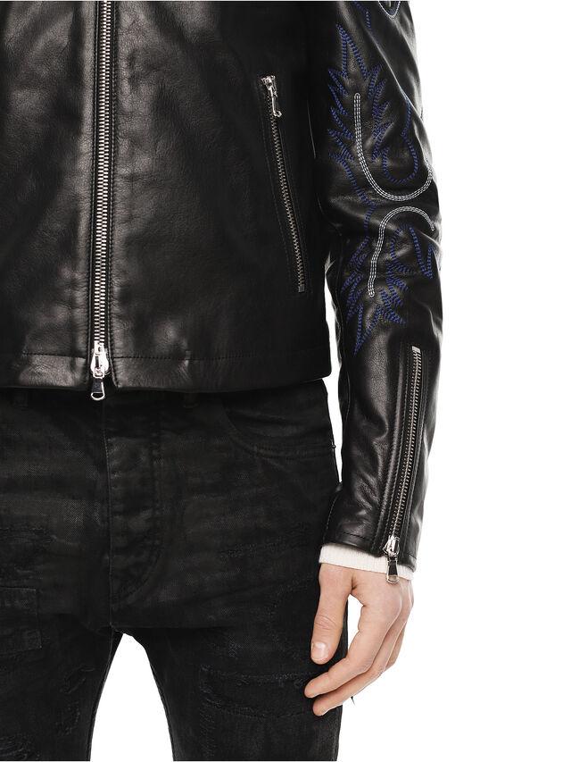 Diesel - LITEX, Black - Leather jackets - Image 5