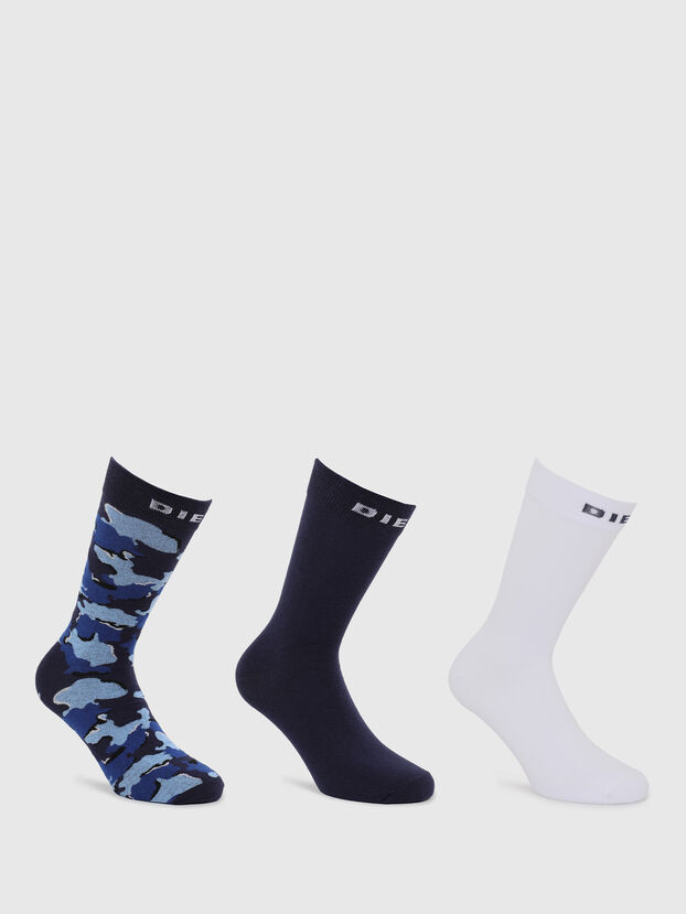 SKM-RAY-THREEPACK, Black/Blue - Socks