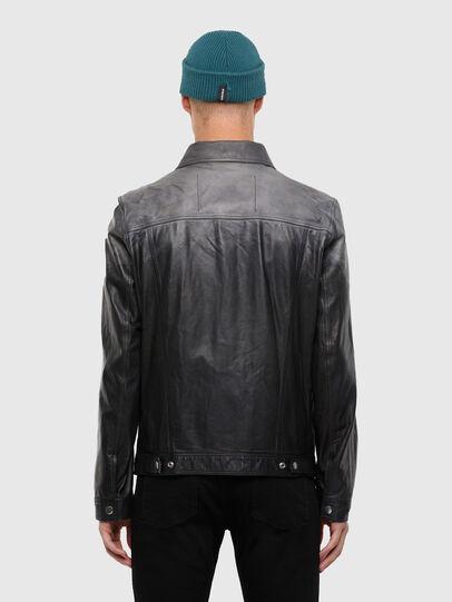Diesel - L-NHILL-TRE, Black - Leather jackets - Image 2