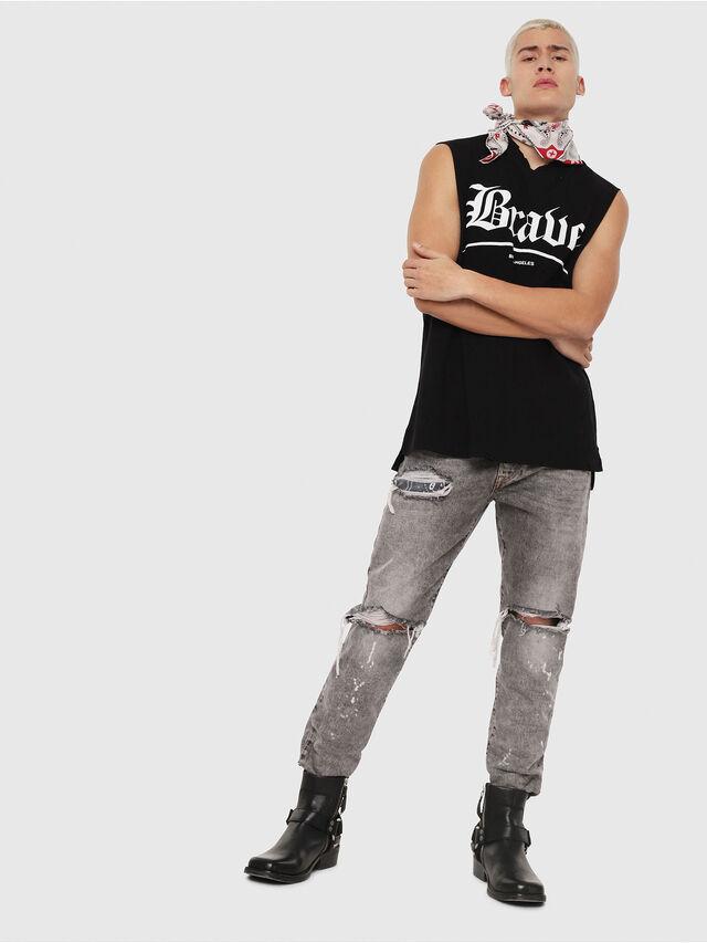 Diesel - T-YOSHIMI-SL-Y1, Black - T-Shirts - Image 4