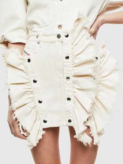 Diesel - D-FRU JOGGJEANS, Cream - Skirts - Image 1