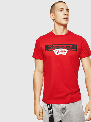 T-DIEGO-A1, Fire Red - T-Shirts