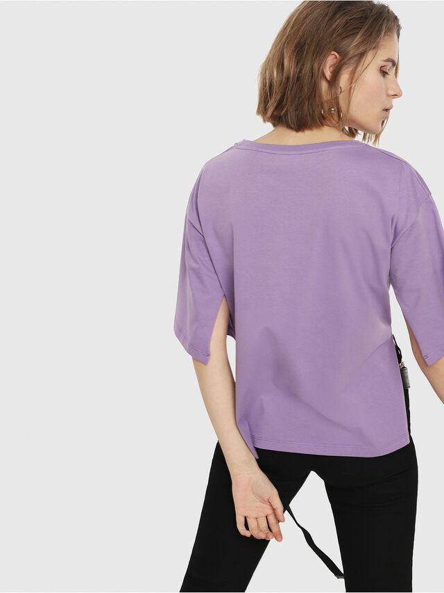 Diesel - T-JACKY-D, Lilac - T-Shirts - Image 2