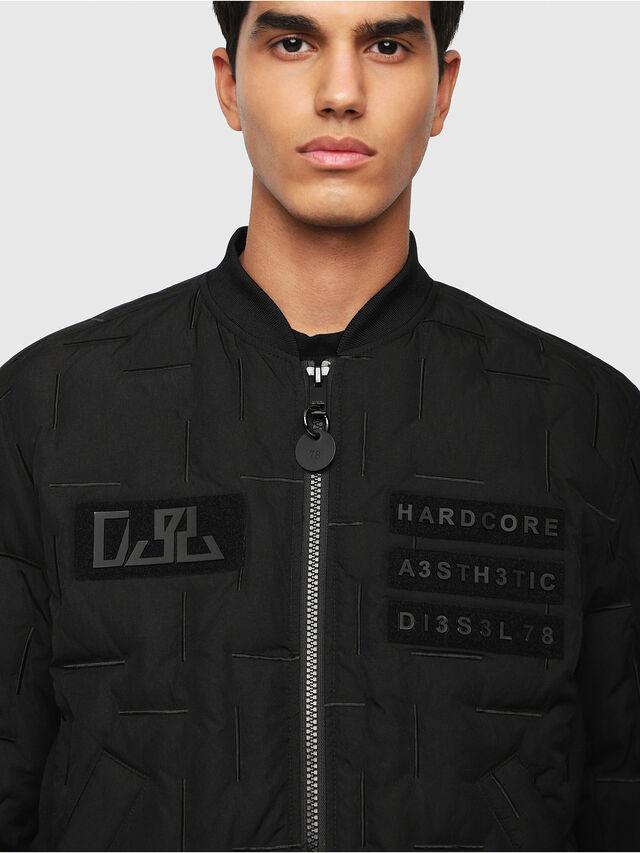 Diesel - W-TANAKA, Black - Winter Jackets - Image 3