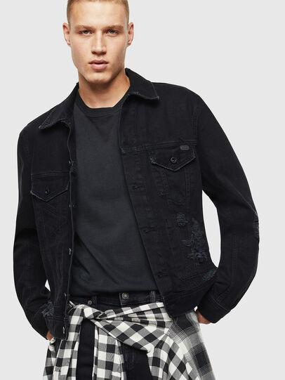 Diesel - D-BRAY, Black - Denim Jackets - Image 4