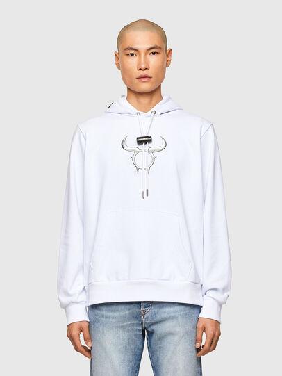 Diesel - CL-S-GIRK-HOOD-O, White - Sweaters - Image 1