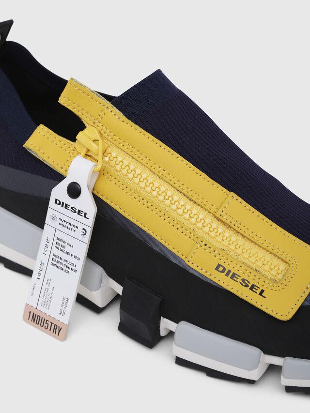 Diesel - H-PADOLA LOW ZIP, Blue/Yellow - Sneakers - Image 4