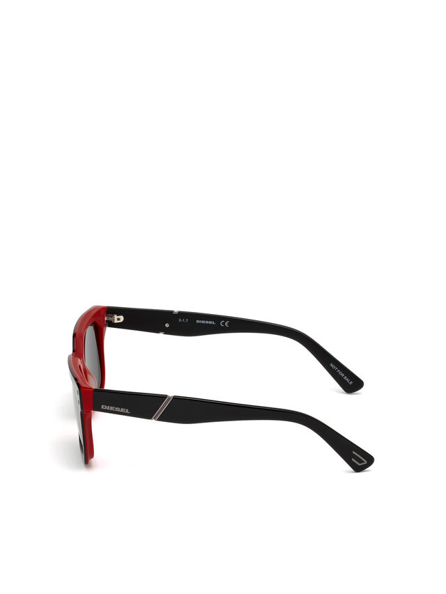 Diesel DL0253, Black/Red - Eyewear - Image 3