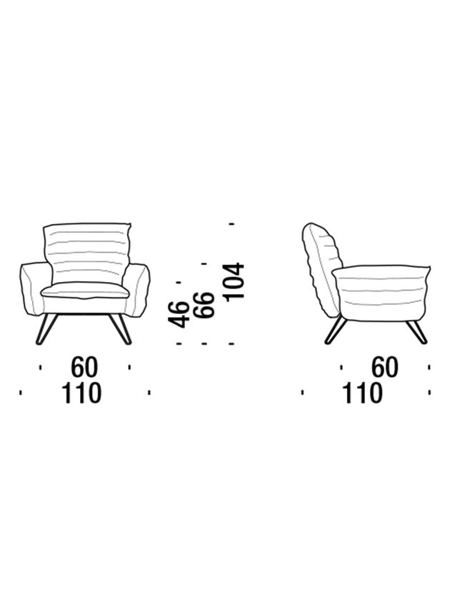 Living DL0F55 CLOUDSCAPE, White - Armchairs - Image 3