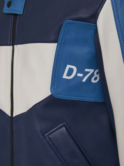 Diesel - L-MAY, Blue/White - Leather jackets - Image 6