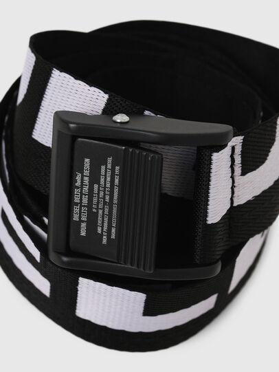 Diesel - B-MASER, Black/White - Belts - Image 2