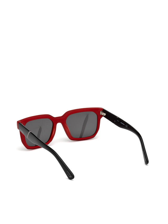 Diesel DL0253, Black/Red - Eyewear - Image 2