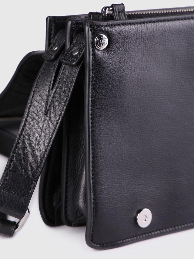 Diesel - LE-MISHA, Black Leather - Crossbody Bags - Image 3