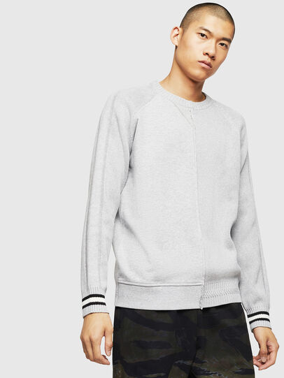 Diesel - K-BOX, Light Grey - Knitwear - Image 1