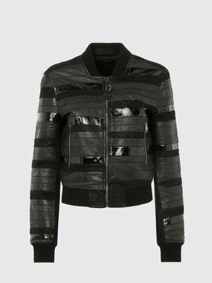 L-WALL, Black - Leather jackets