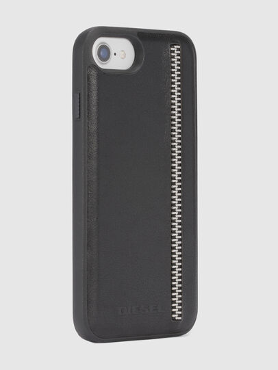 Diesel - ZIP BLACK LEATHER IPHONE 8/7/6s/6 CASE,  - Cases - Image 5