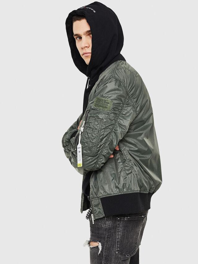Diesel - J-TOSHIO, Dark Green - Jackets - Image 6