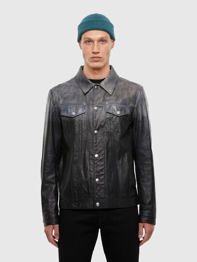 Diesel - L-NHILL-TRE, Black - Leather jackets - Image 1