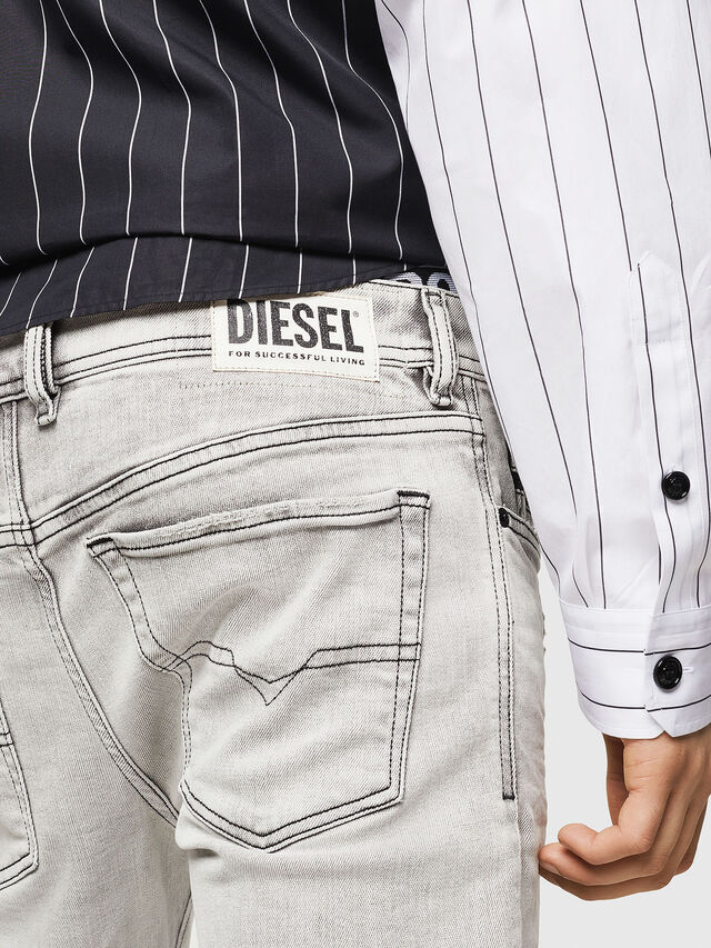 Diesel - Sleenker 0090F, Light Grey - Jeans - Image 5