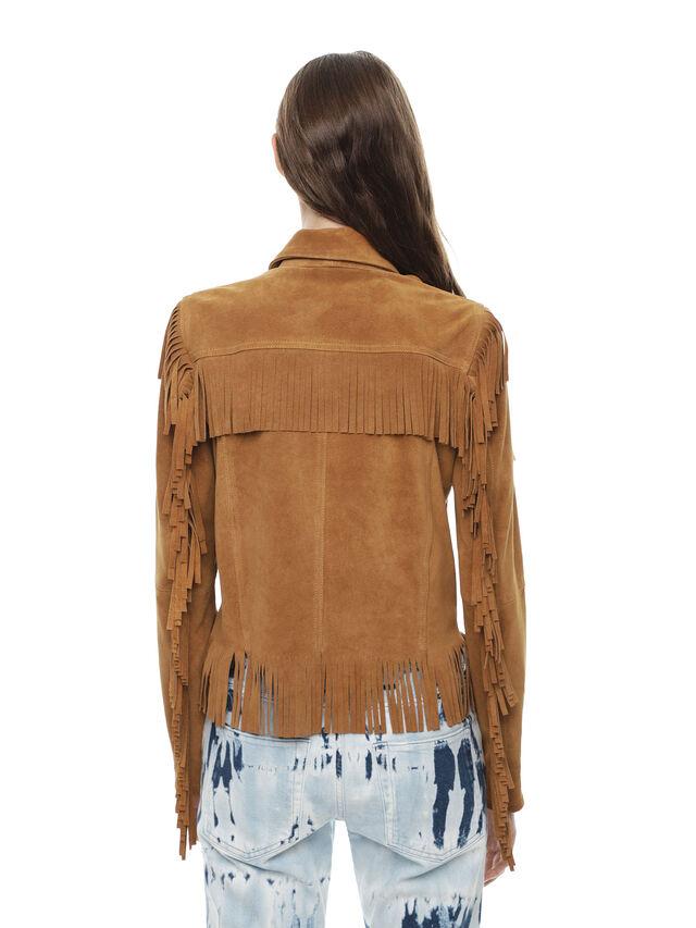 Diesel - LAUL, Brown/Beige - Leather jackets - Image 2