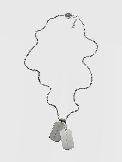 Diesel - DX1194, Silver - Necklaces - Image 1
