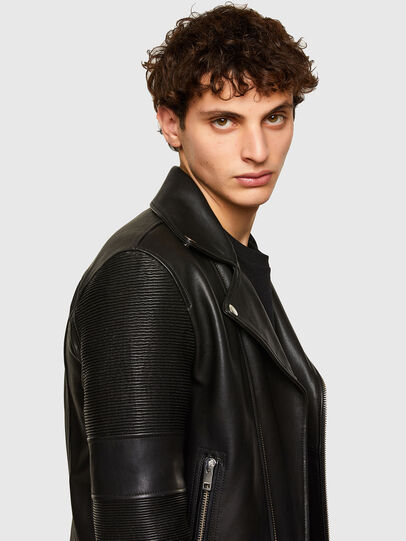 Diesel - L-STARKVILLE, Black - Leather jackets - Image 3