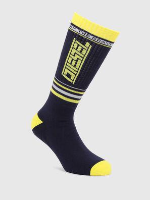SKM-LONG, Black/Yellow - Socks