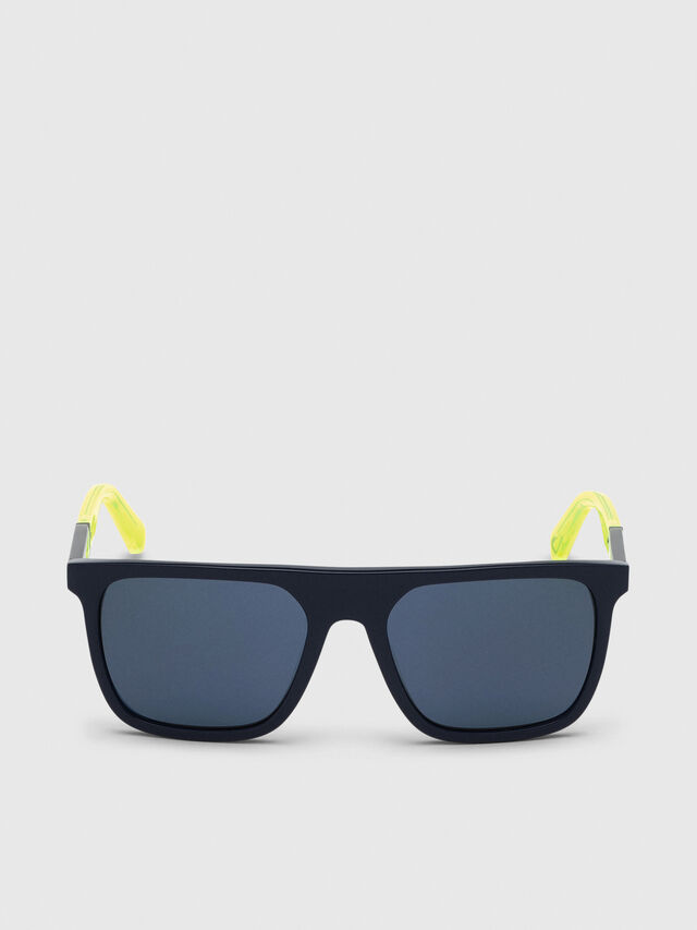 Diesel - DL0299-F, Blue/Yellow - Sunglasses - Image 1