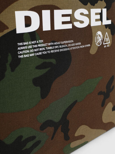 Diesel - D-THISBAG SHOPPER L, Green Camouflage - Shopping and Shoulder Bags - Image 4
