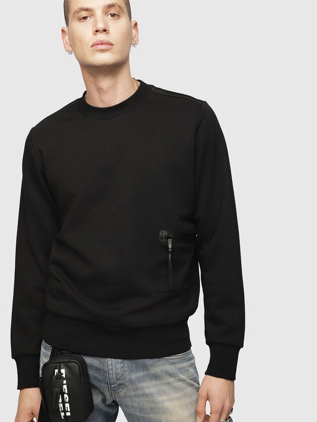 Diesel - S-CROMEXX, Black - T-Shirts - Image 1