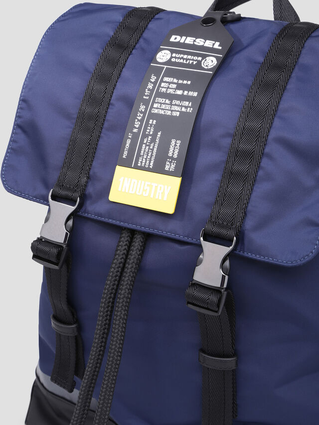 Diesel - VOLPAGO BACK, Blue - Backpacks - Image 5