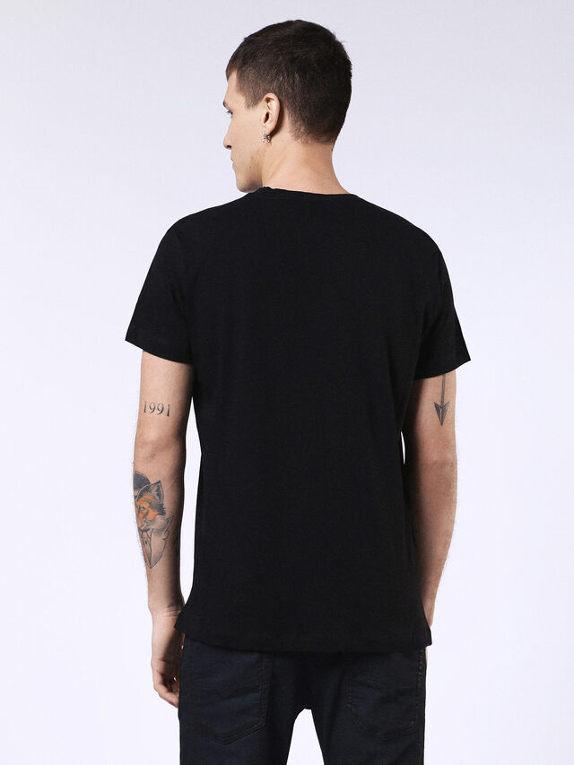 Diesel - DVL-T-SHIRT-ML-RE, Black - T-Shirts - Image 2