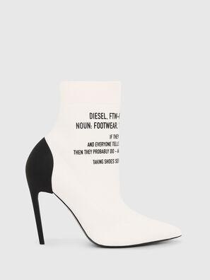 D-SLANTY HAB, White - Ankle Boots