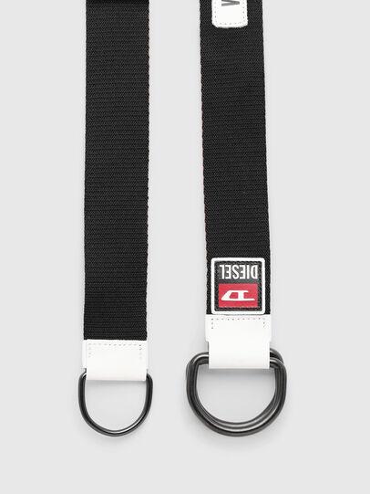 Diesel - B-RETA, Black/White - Belts - Image 4