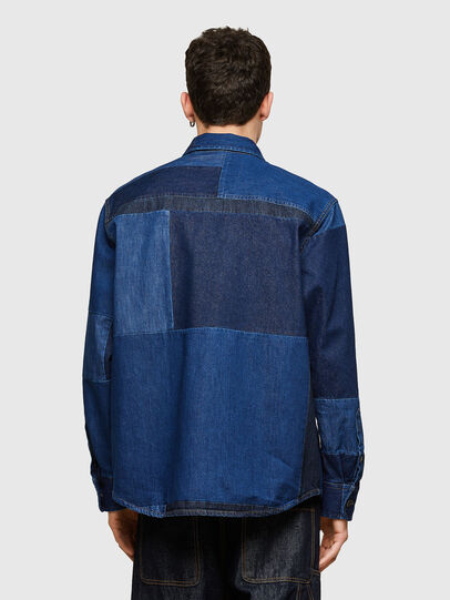Diesel - D-HORUS, Blue - Denim Shirts - Image 2