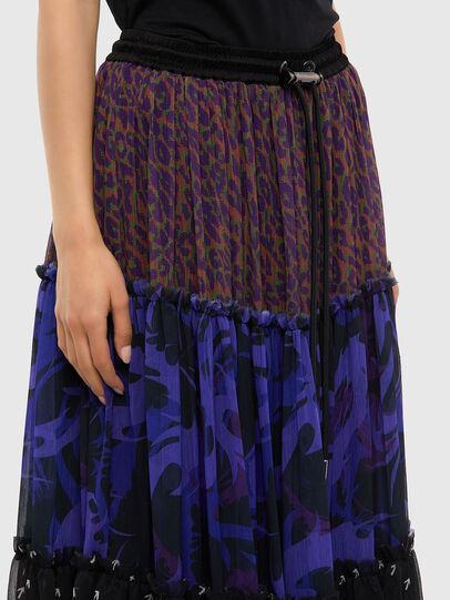 Diesel - O-ILARY, Blue/Black - Skirts - Image 3