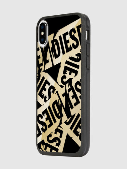 Diesel - MULTI TAPE GOLD/BLACK IPHONE X CASE, Gold - Cases - Image 5