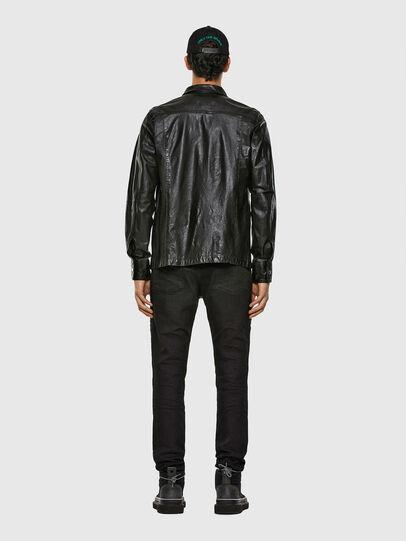 Diesel - L-MALIK, Black - Leather jackets - Image 6