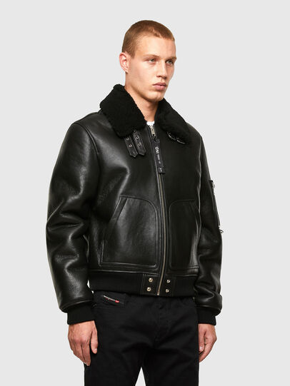 Diesel - L-ARNOLD, Black - Leather jackets - Image 7