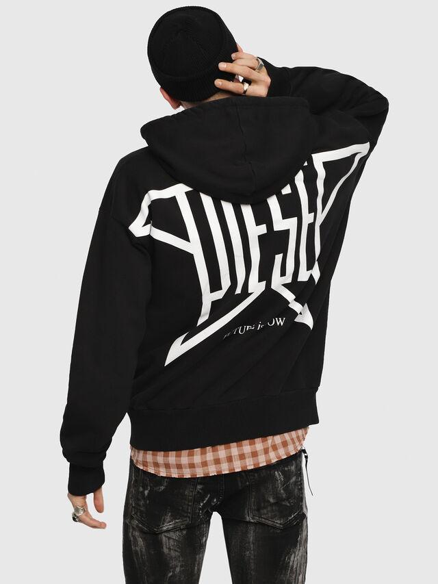 Diesel - S-ALBY-ZIP-YB, Black - Sweaters - Image 2