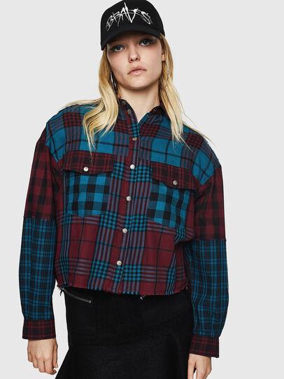 Diesel - C-OKSANA, Red/Blue - Shirts - Image 1