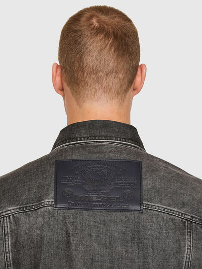 Diesel - NHILL-ROD-SP, Black - Denim Jackets - Image 4