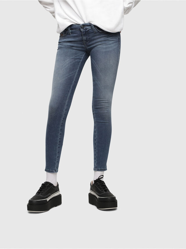 Diesel - Skinzee Low Zip 0681P, Medium blue - Jeans - Image 1