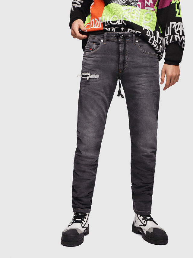Diesel - Thommer JoggJeans 069EM, Black/Dark grey - Jeans - Image 1