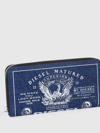 Diesel - 24 ZIP, Blue - Zip-Round Wallets - Image 4