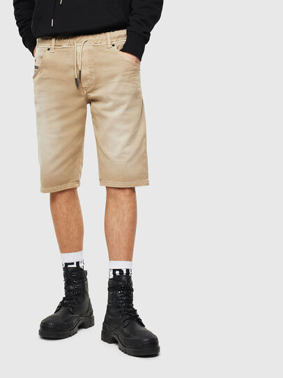 Diesel - D-KROOSHORT JOGGJEANS, Light Brown - Shorts - Image 1