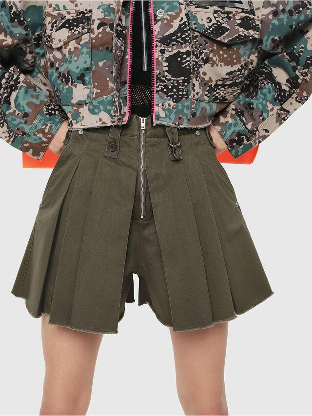 93f6ab1b213d S-EDEN Women: Skirt-effect shorts in cotton gabardine | Diesel