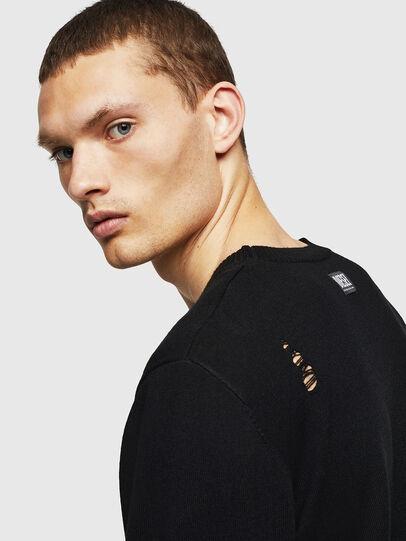 Diesel - K-PLUG, Black - Knitwear - Image 5