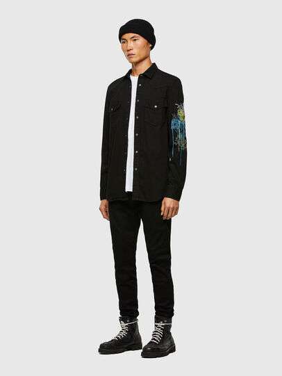 Diesel - D-EAST-P1-SP, Black - Denim Shirts - Image 5