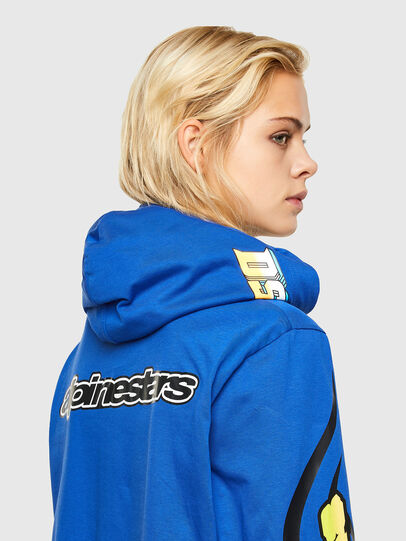 Diesel - ASTARS-T-JUSTOOD-FL, Blue - T-Shirts - Image 4